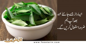 After knowing the benefits of you will definitely use neem