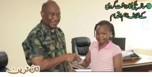Big step of 9 years old girl against terrorism