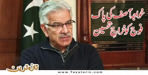 Khawaja Asif appreciate the efforts of Pakistan Army