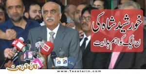 Khurshid Shah gave advice to N League