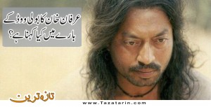 What Irfan Khan has to say about Bollywood