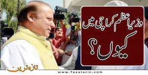 Why Prime minister came to Karachi