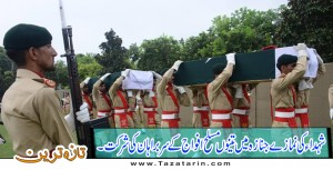 Martyred funerell offered at Chaklala
