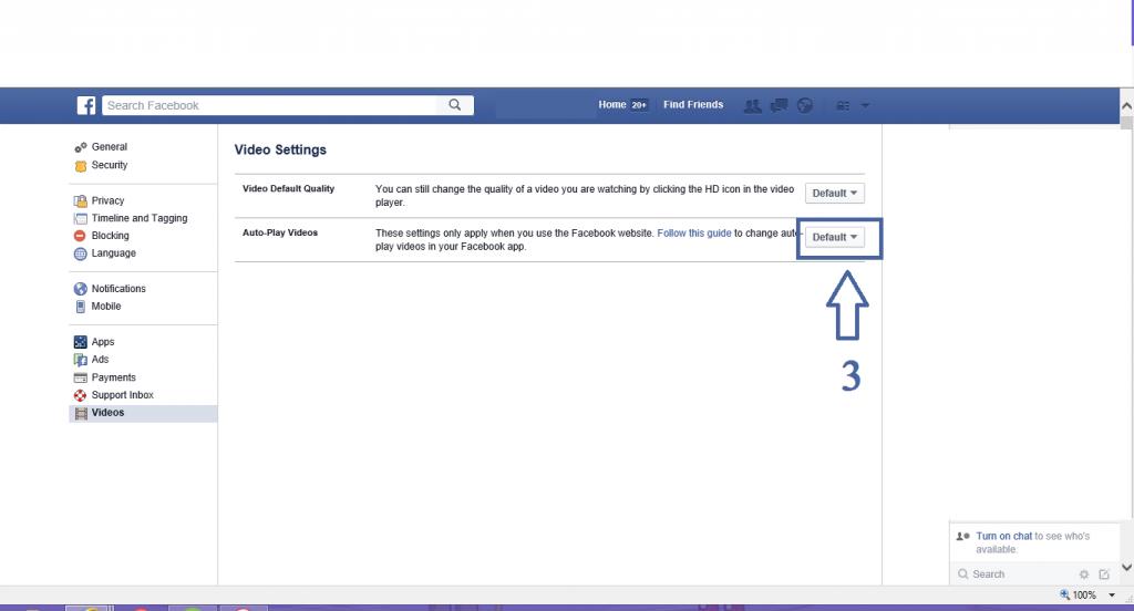 facebook autoplay video feature