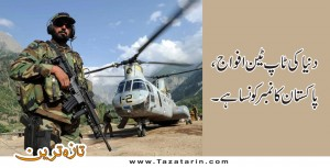 Pakistan Army gains the first position in the world best armies