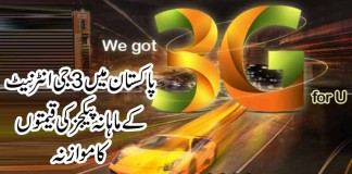 What are the new ufone 3G internet packages?