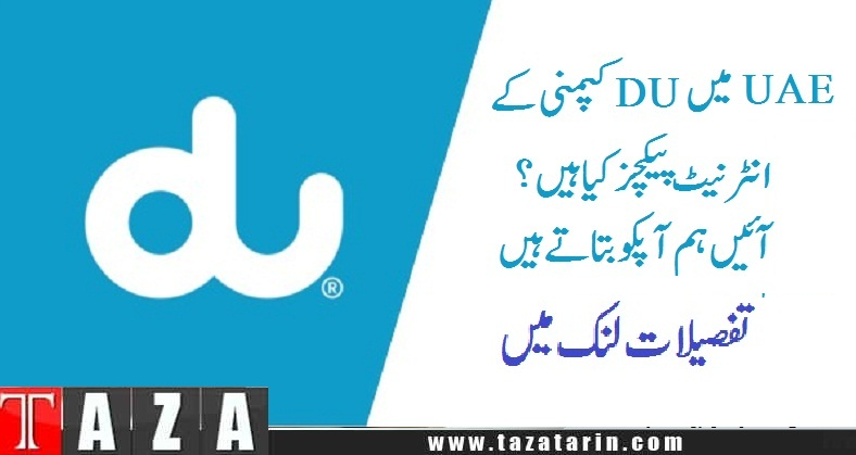What are du internet packages for UAE customers 2016 (1)