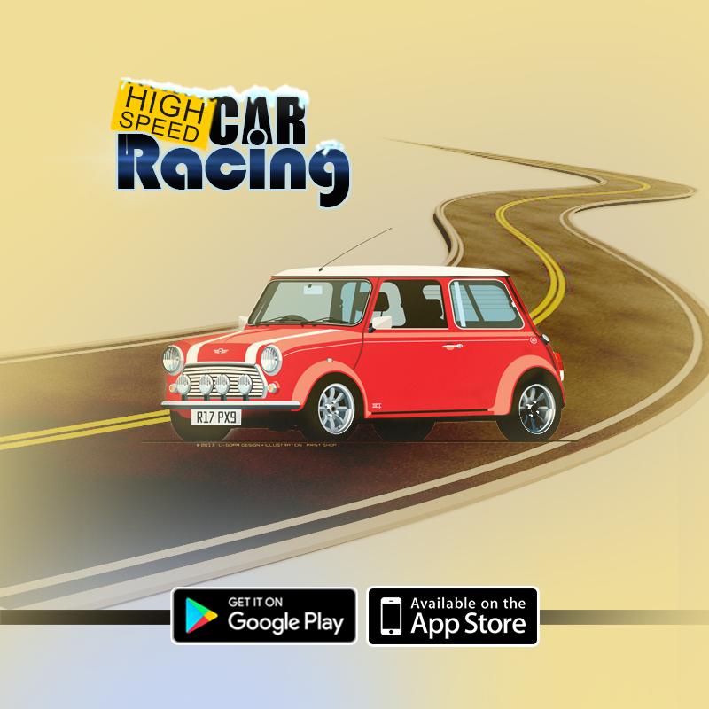 high speed car racing